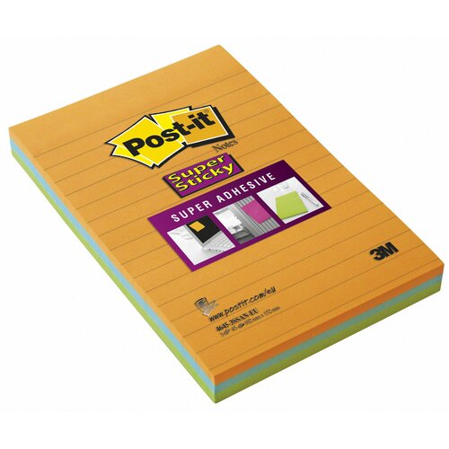 "3M 4"" x 6"" Assorted Colors Sticky Post-it Note"