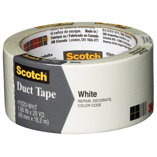"3M 1.88"" x 20 Yards Scotch White Duct Tape"