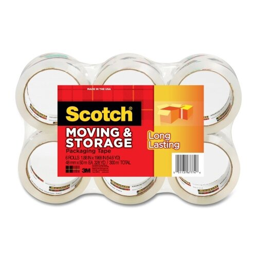 Scotch-Brite™ Moving and Storage Tape, 6 Rolls/Pack