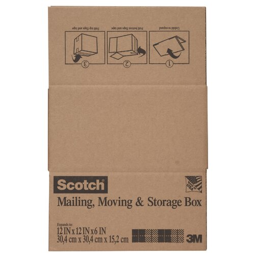 "3M 12"" x 12"" x 6"" Scotch Shipping and Storage Box"