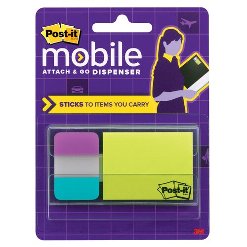 3M Post It Mobile Attach & Go Note and Tabs Dispenser