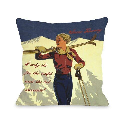 Snow Bunny Vintage Ski Pillow