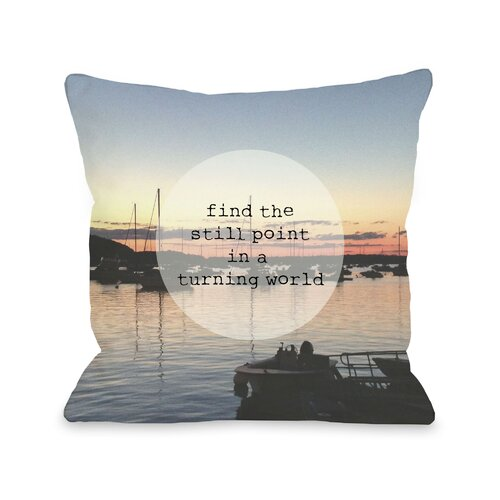 Find a Still Point Harbor Photo Pillow