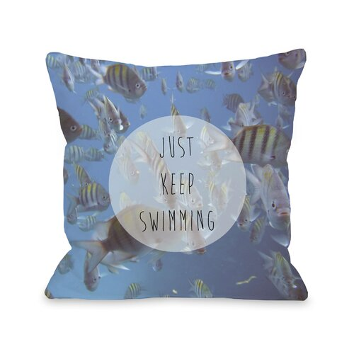 Keep Swimming Fish Photo Pillow