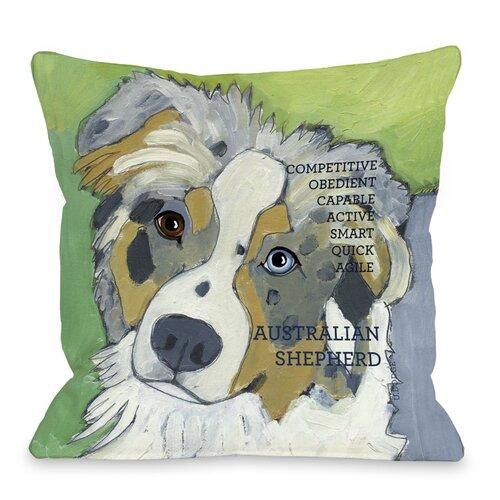 Doggy Décor Australian Sheep Dog 1 Throw Pillow