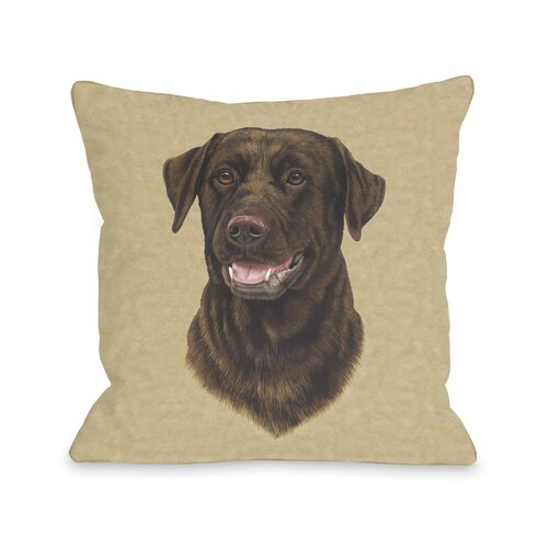 Doggy Décor Chocolate Lab Head Pillow