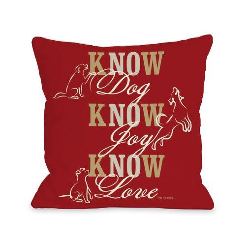 Doggy Décor Know Dog Throw Pillow