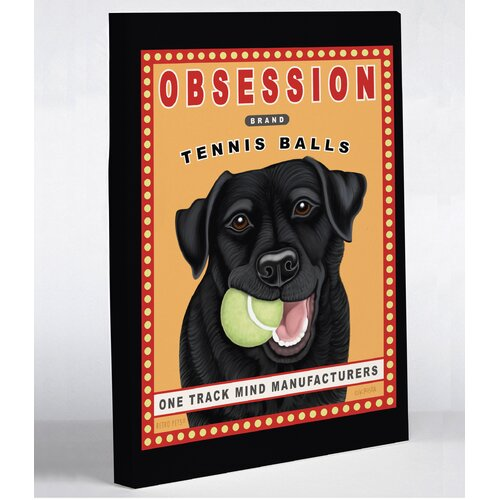 Doggy Decor Obsession Tennis Ball Graphic Art on Canvas