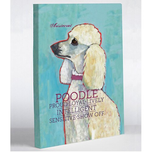 OneBellaCasa.com Doggy Decor Poodle 2 Graphic Art on Canvas