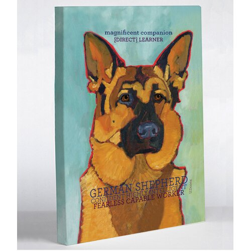 Doggy Decor German Shepherd 1 Graphic Art on Canvas