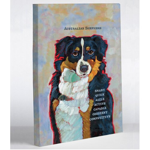 Doggy Decor Australian Shepherd 2 Graphic Art on Canvas