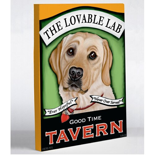 Doggy Decor Lovable Lab Graphic Art on Canvas