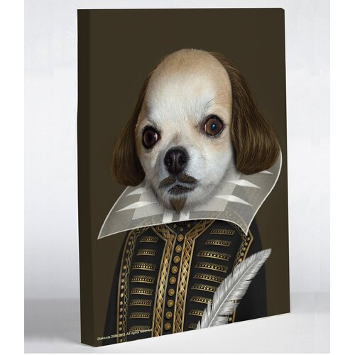 Pets Rock Shakespeare Graphic Art on Canvas
