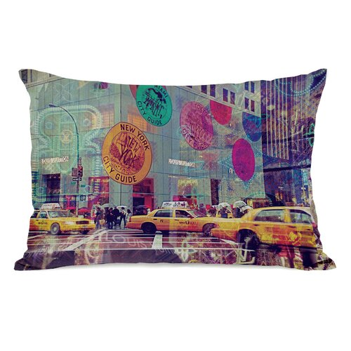 OneBellaCasa.com Oliver Gal NYC Fashion Taxi Pillow