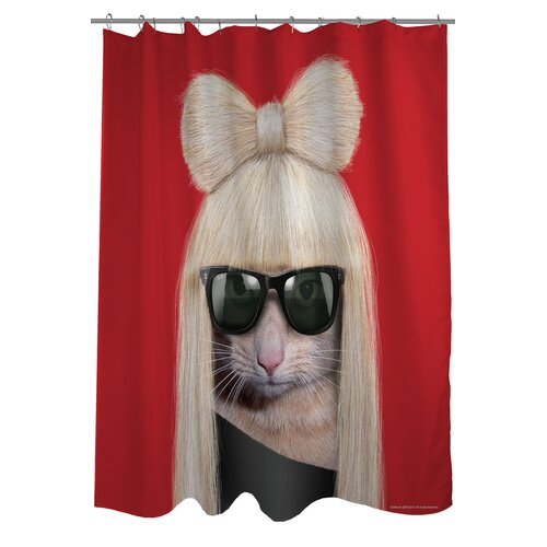 OneBellaCasa.com Pets Rock GG Polyester Shower Curtain