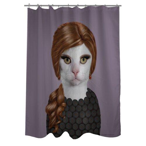 One Bella Casa Pets Rock Songbird Polyester Shower Curtain