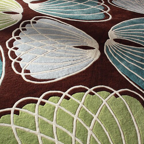 Inhabit Lotus Rug in Chocolate/ Cornflower