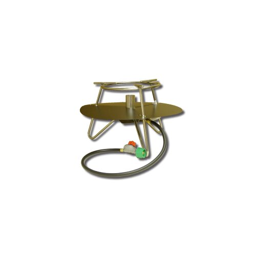 King Kooker Jet Burner Outdoor Cooker Package with Baffle and Round Bar Legs