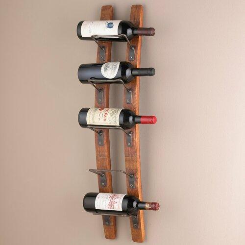 Barrel Stave Wall Mounted 5 Bottle Wine Rack