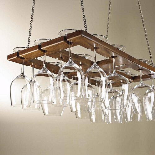 Wine Enthusiast Hanging Wine Glass Rack