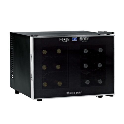 Silent 12 Bottle Dual Zone Thermoelectric Wine Refrigerator
