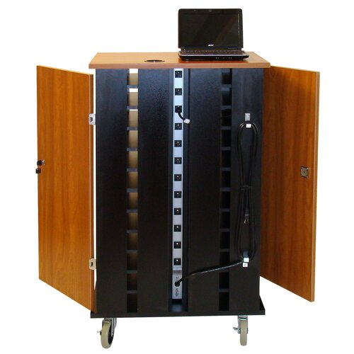 Woodware Furniture 24-Compartment Netbook Cart