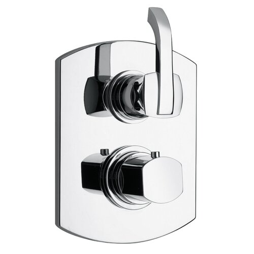 Jewel Faucets J11 Bath Series Thermostatic Valve Body with Diverter and Trim