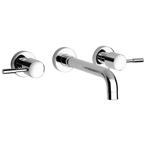 Jewel Faucets J16 Bath Series Two Handle Wall Mount Bathroom Faucet with Controls and Spout
