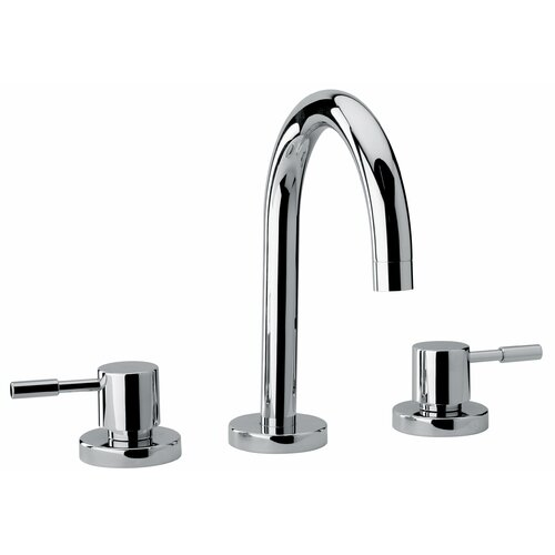Jewel Faucets J16 Bath Series Two Lever Handle Widespread Bathroom Faucet with Goose Neck Spout