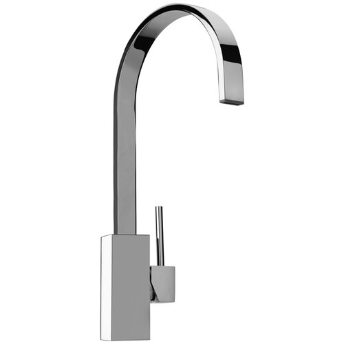 J25 Kitchen Series Single Hole Kitchen Faucet with Swivel Ribbon Arched Spout