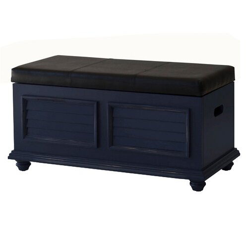 John Boyd Designs Outer Banks Cushion Top Storage Trunk