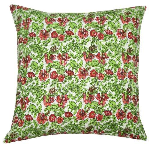 Divine Designs Katrina Kantha Cotton Pillow