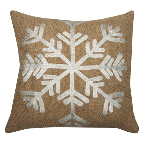 Divine Designs Snowflake Jute Pillow