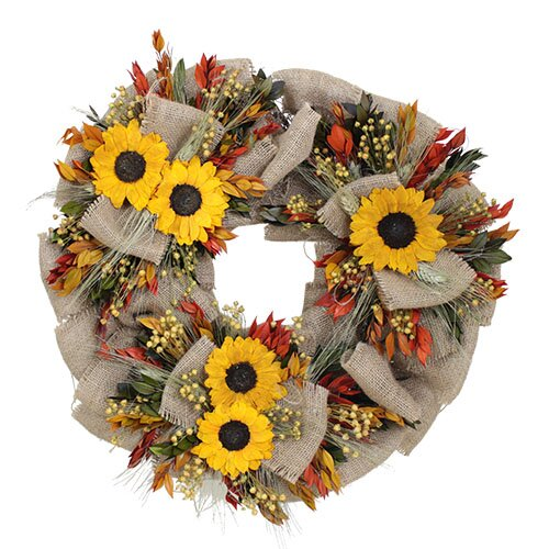 Urban Florals Autumn Sunflower Harvest Wreath