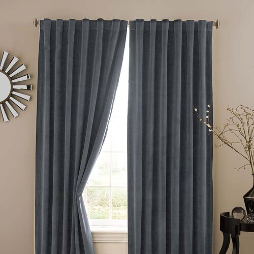 Absolute Zero Absolute Zero Velvet Rod Pocket  Home Theater Curtain Single Panel