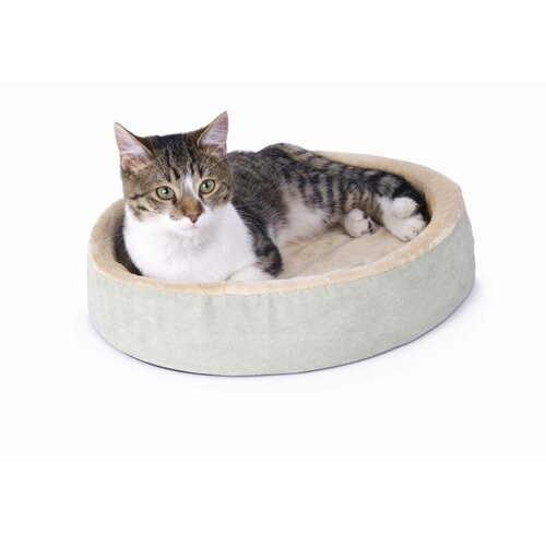 K&H Manufacturing Cuddle Up Heated Cat Bed in Sage