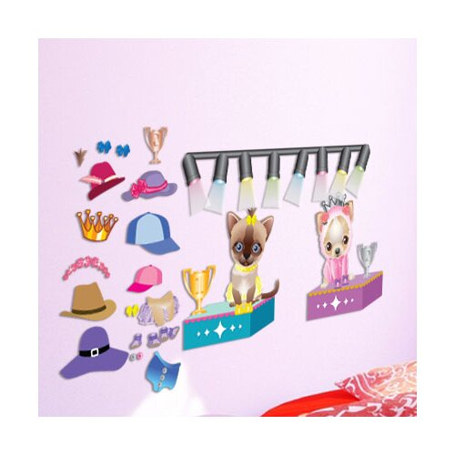 Peel and Play Pet Fashion Wall Decal
