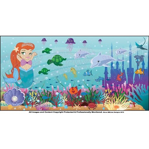 Mermaid Girl Wall Mural