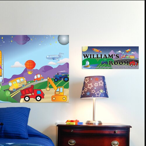 Mona Melisa Designs Cars / Trucks Boy Name Wall Plaque