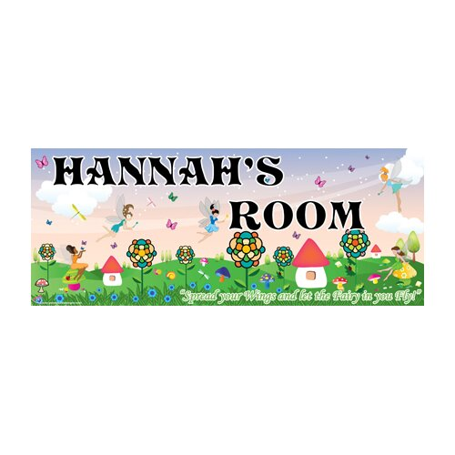 Fairy Girl Name Wall Plaque