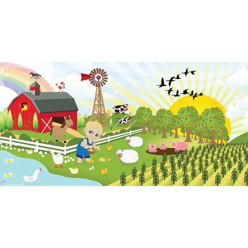 Mona Melisa Designs Farm Boy Wall Mural