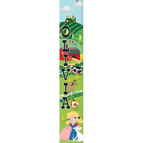 Mona Melisa Designs Farm Girl Growth Chart