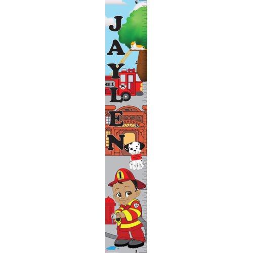Mona Melisa Designs Fireman Boy Growth Chart