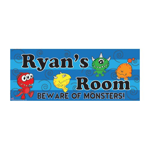 Mona Melisa Designs Monster Boy Wall Plaque
