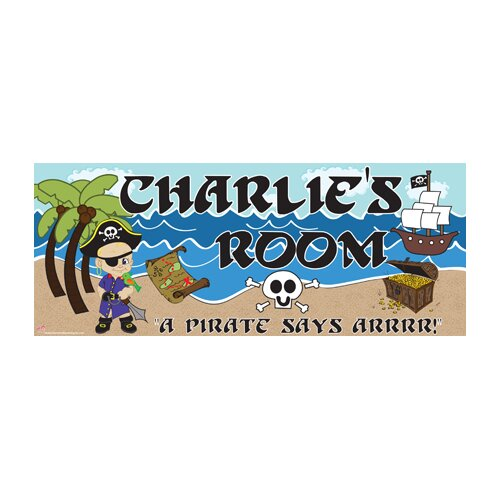 Pirate Boy Name Wall Plaque