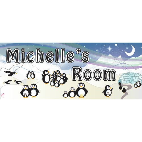 Penguin Name Wall Plaque