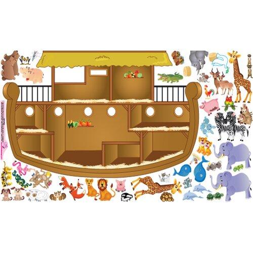Peel and Play Noah's Ark Wall Decal Set