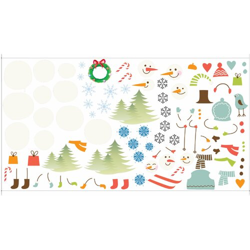 Mona Melisa Designs Peel and Play Snowman Wall Decal