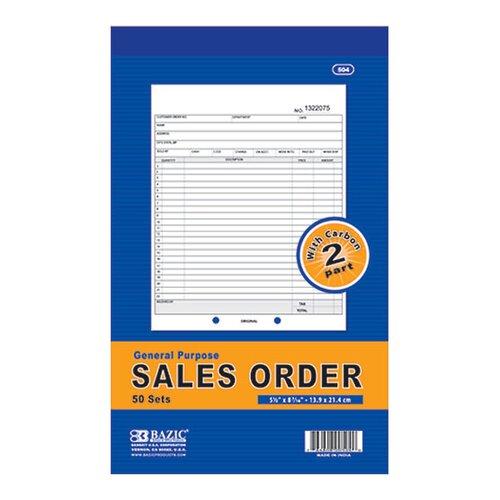 Bazic 2-Part Sales Order