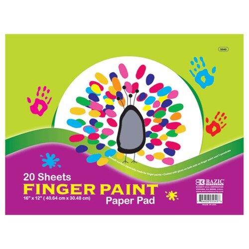 Bazic Finger Paint Paper Pad